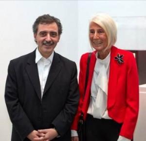 Manuel Borja-Villel, director del Museo Reina Sofía y la galerísta Soledad Lorenzo, Inf