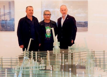 De derecha a izquierda Benjamin Weil, Carlos Garaicoa y Vicente Todolí 1