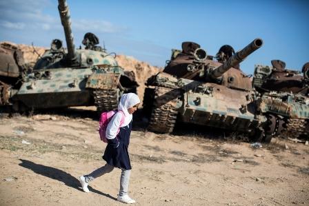 The journeys to school: Nawal in Libya