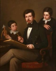 Antonio María Esquivel y sus hijos, Museo del Romanticismo