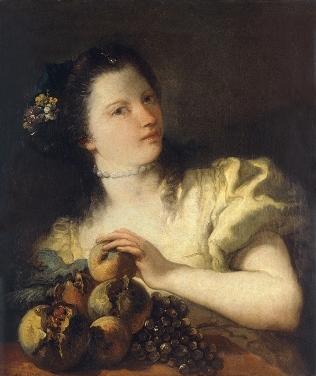 Tiepolo - Retrato de joven con frutas