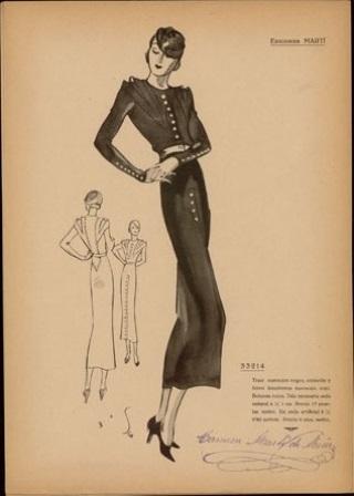 BNE Moda de invierno 1933-34 Carmen Martín de Missé