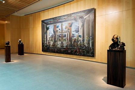 Michael Kunze, Vormitag 1992-95.  Escultura, Jonathan Meese, General Pony. Sala de Arte Santander