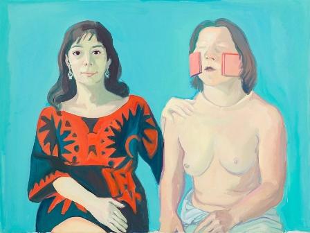 Selbst mit Silvia - Silvia Goldsmith und ich Selbstportrait - 1972 - mini
