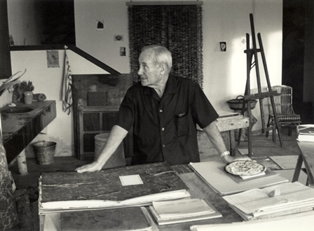 JoanMiróaltallerdeMont-roig,1965 ArxiuSuccessióMiró