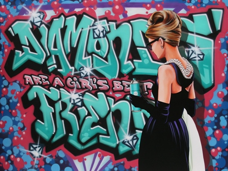 Antonio de felipe - GraffitiPOP - Audrey Diamonds