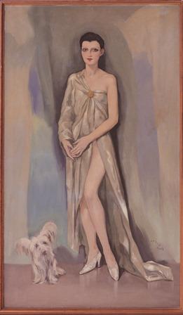 Dama Chic (París) de Enrique Ochoa. Óleo sobre lienzo 1,15 x 2,00 cm. - copia