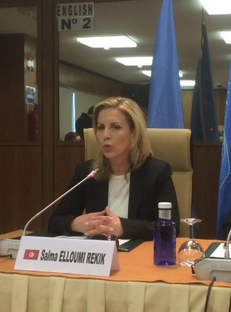 Foto2. Salma Elloumi Rekik, ministra de Turismo y Artesanía de Túnez