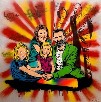 Retrato de la Familia Real-Antonio de Felipe- GraffitiPop