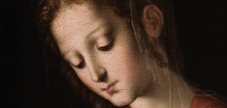 """Detalle """"La virgen y el Niño"""" de Luis de Morales, Museo del Prado"""
