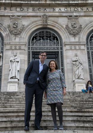 Daniel Noguera, director general de Red.es y Ana Santos Aramburo, directora de la BNE