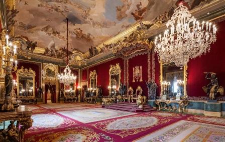 Palacio Real de Madrid, sala del trono