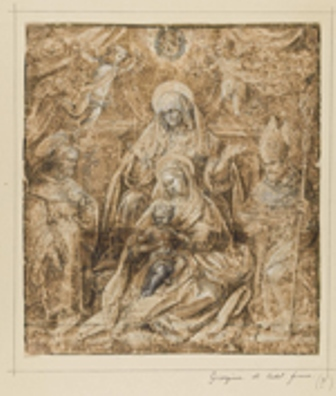 BNE Santa_Ana la Virgen y dos santos de Jan van der Straet