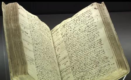 Libro de difuntos BNE Miguel de Cervantes