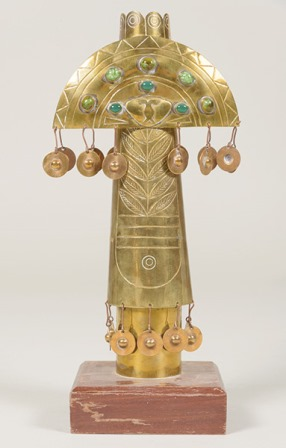 625 Taller Guayasamin ídolo bronce. Sala Retiro, joyas