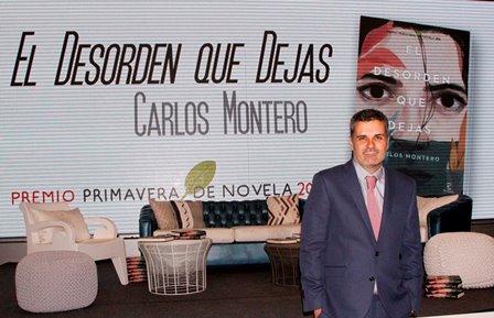El autor Carlos Montero ayer en la presentación de su libro.