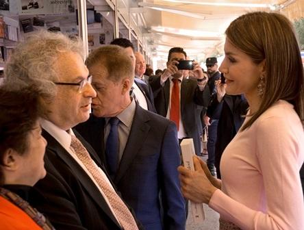 Doña Letizia con Amin Maalouf