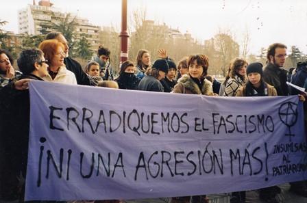 Concentración Antifascista_Insumisas al patriarcado_2005.Cortesía Archivo de feminismos León