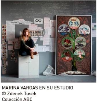 MARINA VARGAS en su estudio Museo ABC