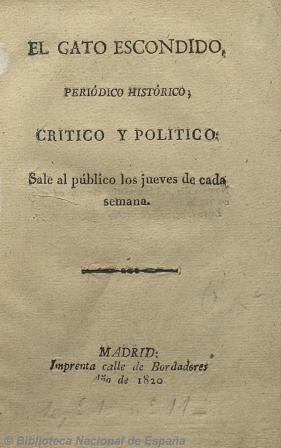 El gato escondido, 1820