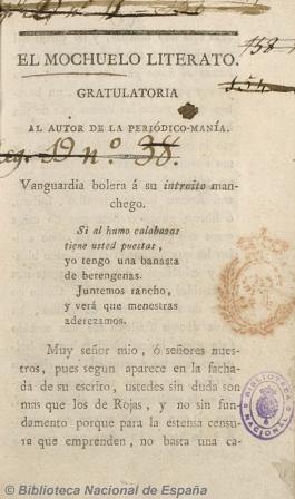 El mochuelo literato, 1820