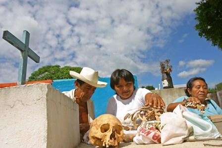 PREPARATIVOS DIA DE MUERTOS EN POMUCH CAMPECHE