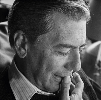 Mario Vargas Llosa at home, Lima, Peru, 23 August 1989