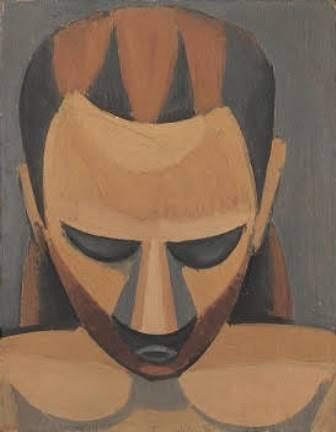Pablo Picasso: Kopf eines Mannes (1908) / Öl auf Holz / 27,0 x 21,0 cm