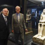 Foto 1 Isidre Fainé – Richard Lambert. Acord Fundació Bancaria la Caixa-British Museum