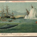 litografía submarino Peral