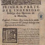 Primera edicioìn de El Quijote. CERV 000118
