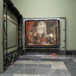 Imagen de Las hilanderas con el panel de enmascaramiento abierto Foto © Museo Nacional del Prado