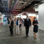 Visita del ministro de Cultura y del director del Museo Reina Sofía a las galerías de ARCO. Foto LOGOPRESS