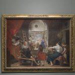 Imagen de Las hilanderas de Velázquez en sala ANTES del nuevo enmarcado. Foto © Museo Nacional del Prado